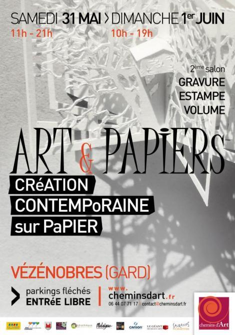 affiche art & papiers 2014
